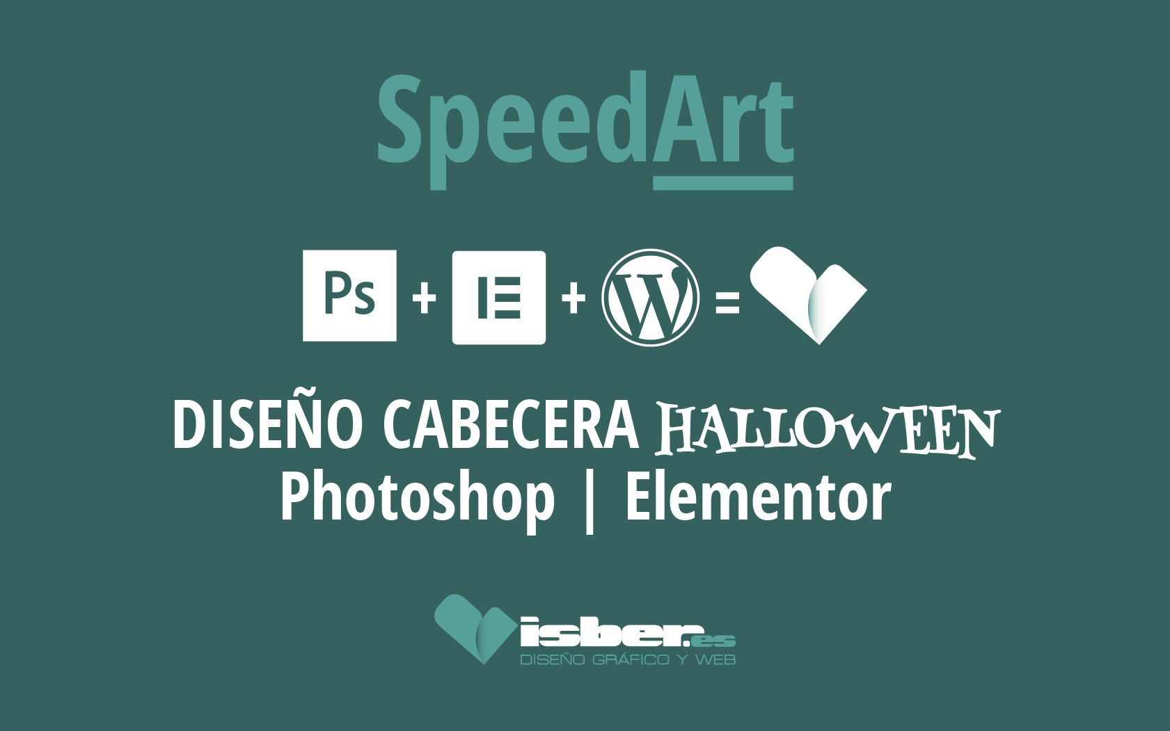 SpeedArt cabecera halloween Lambiques | photoshop | wordpress | elementor