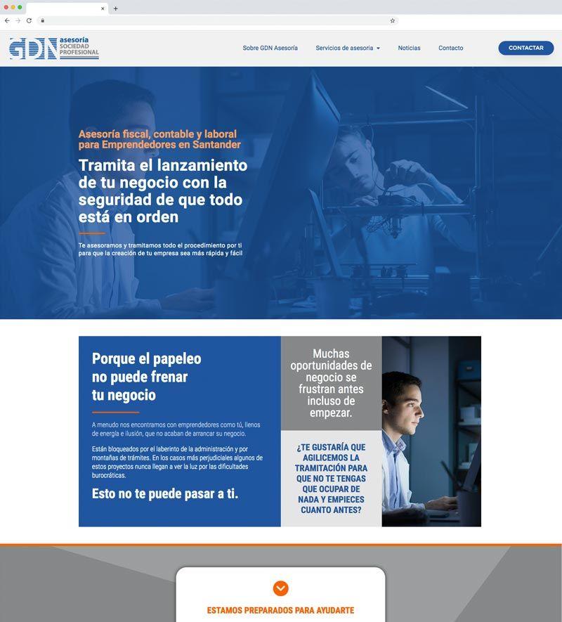 proyecto web GDN Asesoría Santander